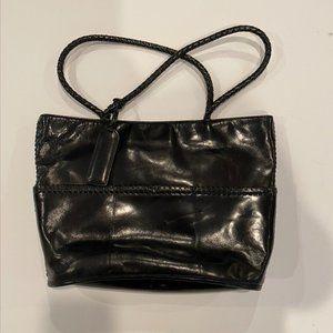Kenneth Cole Black leather handbag with braids